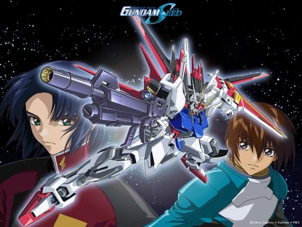 Tags: Anime, Mobile Suit Gundam SEED, Kira Yamato, Strike Gundam, Athrun Zala, Wallpaper