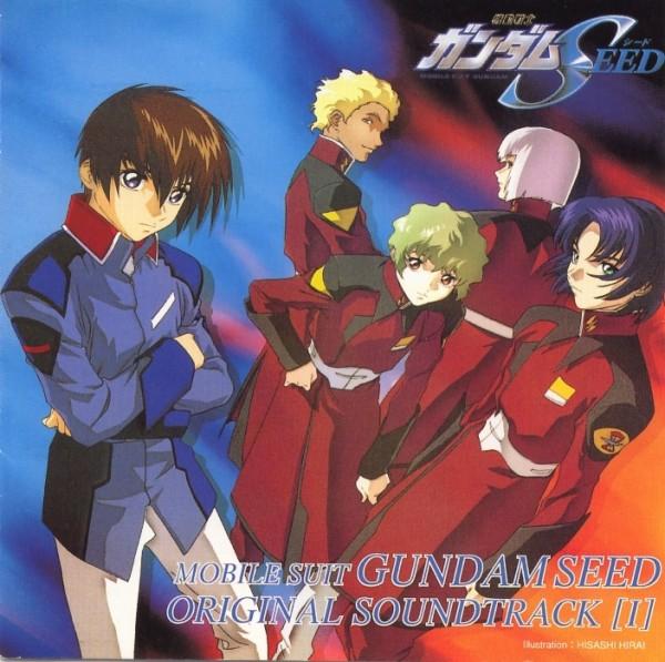 Tags: Anime, Hirai Hisashi, Mobile Suit Gundam SEED, Kira Yamato, Yzak Joule, Nicol Amalfi, Athrun Zala, Dearka Elsman, Soundtrack, Official Art, CD (Source), Scan
