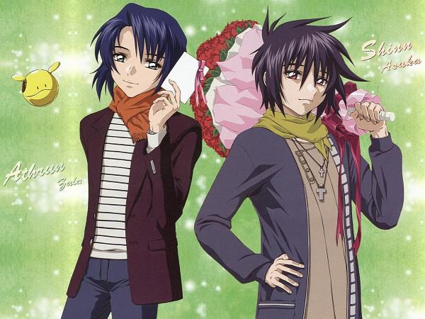 Tags: Anime, Mobile Suit Gundam SEED, Mobile Suit Gundam SEED Destiny, Shinn Asuka, Athrun Zala, Official Art