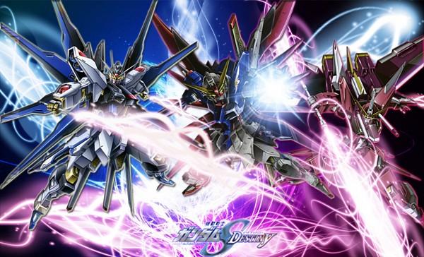 Tags: Anime, Mobile Suit Gundam SEED, Mobile Suit Gundam SEED Destiny, Infinite Justice Gundam, Strike Freedom Gundam, Destiny Gundam, Wallpaper, Gundams
