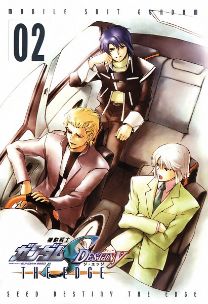 Tags: Anime, Kuori Chimaki, Mobile Suit Gundam SEED, Mobile Suit Gundam SEED Destiny, Dearka Elsman, Yzak Joule, Athrun Zala, Official Art, Manga Cover, Scan
