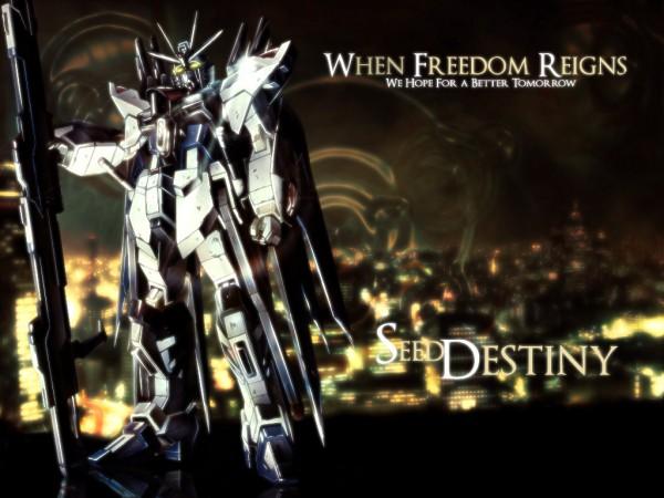 Tags: Anime, Mobile Suit Gundam SEED Destiny, Strike Freedom Gundam, Wallpaper, Gundams