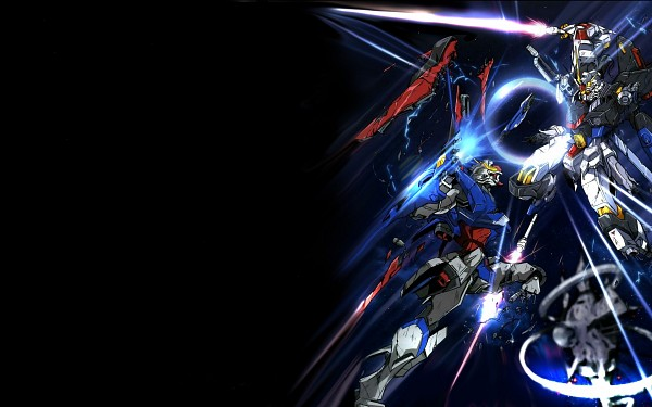 Tags: Anime, Mobile Suit Gundam SEED Destiny, Mobile Suit Gundam SEED, Strike Freedom Gundam, Destiny Gundam, Wallpaper, Gundams