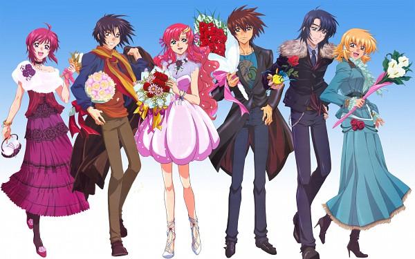 Tags: Anime, Mobile Suit Gundam SEED Destiny, Mobile Suit Gundam SEED, Lunamaria Hawke, Cagalli Yula Athha, Lacus Clyne, Shinn Asuka, Athrun Zala, Kira Yamato, Wallpaper