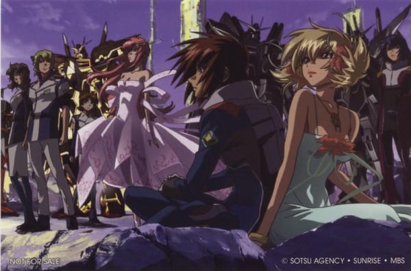 Tags: Anime, Mobile Suit Gundam SEED Destiny, Mobile Suit Gundam SEED, Murue Ramius, Lacus Clyne, Mwu La Flaga, Athrun Zala, Cagalli Yula Athha, Kira Yamato, Miriallia Haw, Official Art