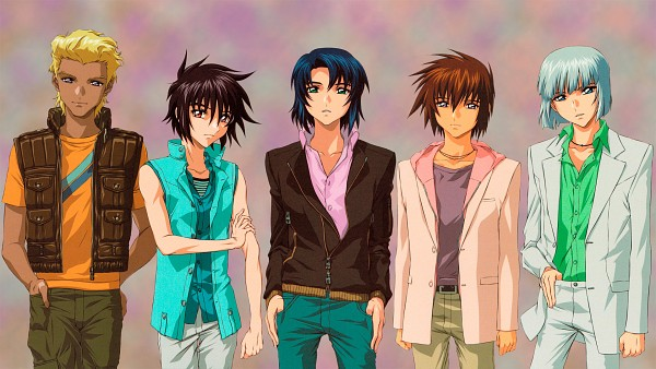 Tags: Anime, Mobile Suit Gundam SEED, Mobile Suit Gundam SEED Destiny, Shinn Asuka, Kira Yamato, Dearka Elsman, Yzak Joule, Athrun Zala, HD Wallpaper, Wallpaper