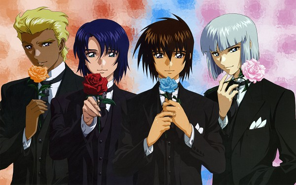 Tags: Anime, Mobile Suit Gundam SEED Destiny, Mobile Suit Gundam SEED, Dearka Elsman, Athrun Zala, Yzak Joule, Kira Yamato, Wallpaper