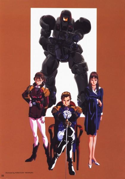 Tags: Anime, Mobile Suit Gundam Wing, Treize Khushrenada, Lady Une, Scan, Official Art