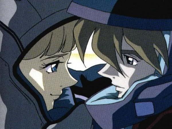 Tags: Anime, Mobile Suit Gundam Wing, Relena Peacecraft, Heero Yuy, Screenshot