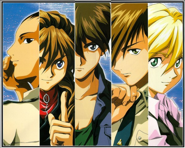 Tags: Anime, Mobile Suit Gundam Wing, Trowa Barton, Duo Maxwell, Chang Wufei, Quatre Raberba Winner, Heero Yuy, Wallpaper
