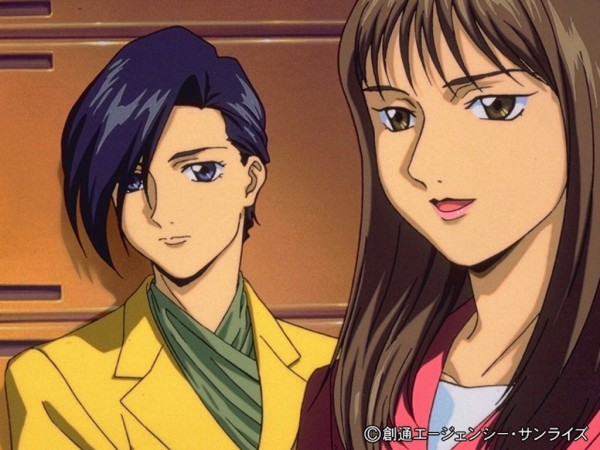 Tags: Anime, Mobile Suit Gundam Wing, Lucrezia Noin, Lady Une, Screenshot