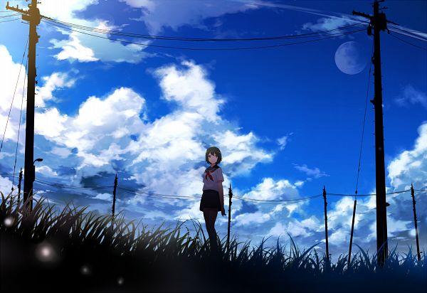 Tags: Anime, Mogumo, Utility Pole, Pixiv