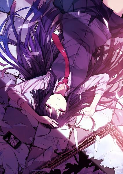 Tags: Anime, Mogumo, Miki Plus, Broken Glass, Mobile Wallpaper, Original, Pixiv