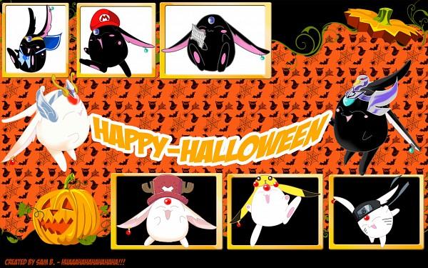 Tags: Anime, xxxHOLiC, Tsubasa: RESERVoir CHRoNiCLE, Mokona Modoki (Black), Mokona Modoki, Mario (Cosplay), Pokémon (Cosplay), ONE PIECE (Cosplay), Grimmjow Jeagerjaques (Cosplay), Pikachu (Cosplay), Uzumaki Naruto (Cosplay), Tony Tony Chopper (Cosplay), Wallpaper