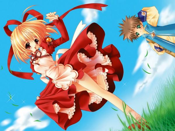 Tags: Anime, Amamiya Polan, Moldavite, Stella Arista, Vine Trident, Wallpaper