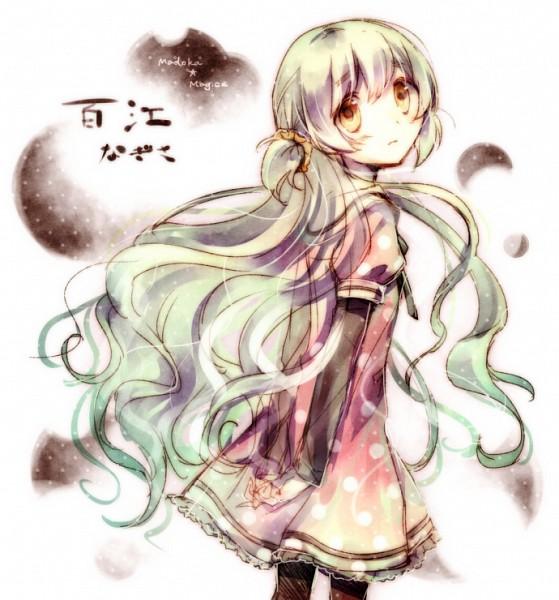 Tags: Anime, Sencha (Coldcolor), Mahou Shoujo Madoka☆Magica, Gekijouban Mahou Shoujo Madoka☆Magica: Hangyaku no Monogatari, Momoe Nagisa, Spotted Dress, Pixiv, Fanart, Fanart From Pixiv