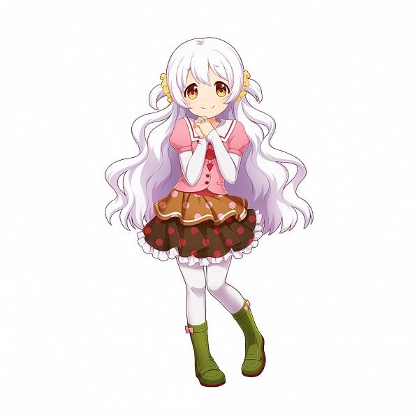 Tags: Anime, CyberAgent, Mahou Shoujo Madoka☆Magica, Uchi no Hime-sama ga Ichiban Kawaii, Momoe Nagisa, Brown Skirt, Green Footwear, PNG Conversion, Artist Request, Official Art
