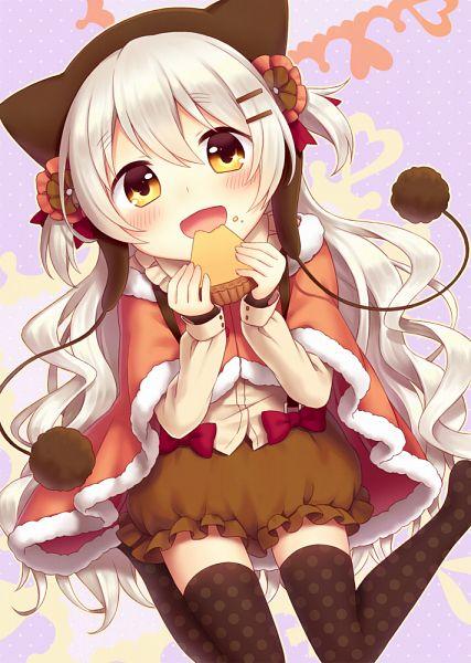 Tags: Anime, Amene Kurumi, Mahou Shoujo Madoka☆Magica, Momoe Nagisa, Orange Outerwear, Brown Hat, Spotted Legwear, Brown Headwear, Brown Legwear, Brown Skirt, Fanart, Fanart From Pixiv, Mobile Wallpaper