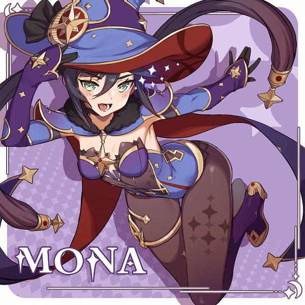 Tags: Anime, miHoYo, Genshin Impact, Mona (Genshin Impact), Twitter, Official Art