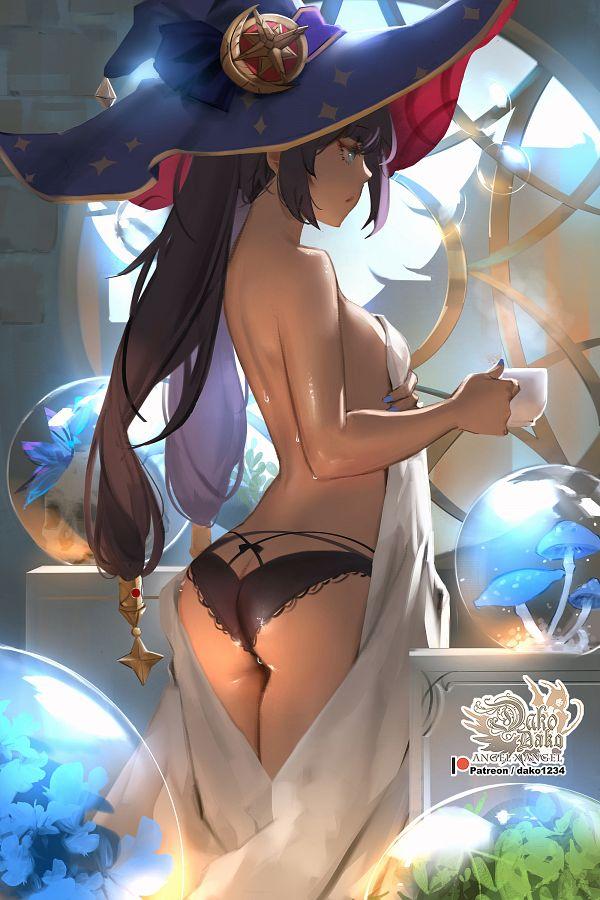 Tags: Anime, Pixiv Id 847863, Genshin Impact, Mona (Genshin Impact), Mobile Wallpaper