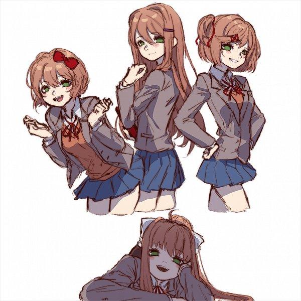 Tags: Anime, Kuzudon, Doki Doki Literature Club!, Monika (Doki Doki Literature Club!), Yuri (Doki Doki Literature Club!) (Cosplay), Sayori (Doki Doki Literature Club!) (Cosplay), Natsuki (Doki Doki Literature Club!) (Cosplay), Tumblr, Fanart