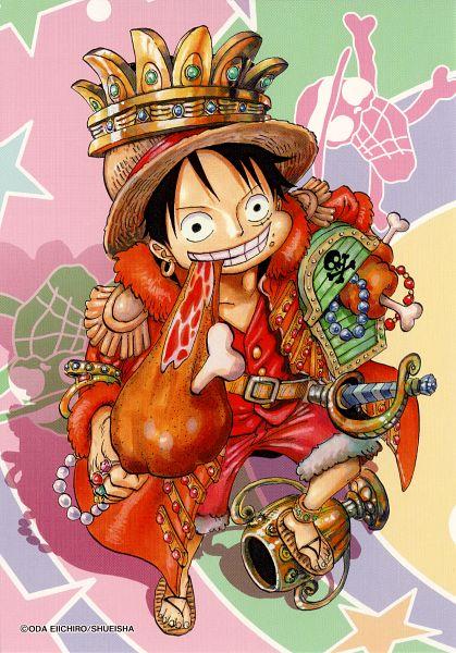 Tags: Anime, Oda Eiichirou, ONE PIECE, Monkey D. Luffy, Meat, Calendar (Source), Mobile Wallpaper, Calendar 2013, Scan, Official Art
