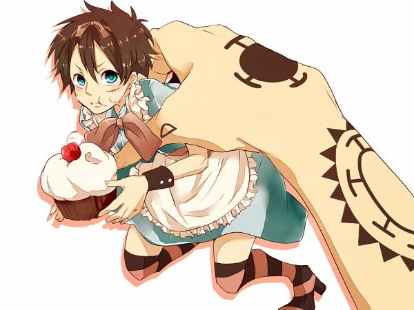 Tags: Anime, Komomo (Pixiv4548886), ONE PIECE, Monkey D. Luffy, Alice (Alice in Wonderland) (Cosplay), Fanart From Pixiv, Wallpaper, Fanart, Pixiv