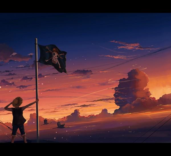 Tags: Anime, Megatruh, ONE PIECE, Monkey D. Luffy, Skull And Crossbones, Pirate Flag, deviantART, Fanart From DeviantART, Fanart