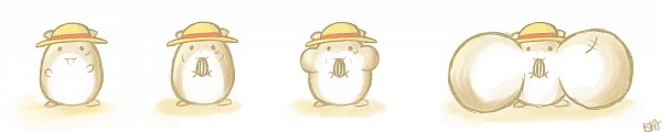 Tags: Anime, Bika, ONE PIECE, Monkey D. Luffy, Hamster, Fanart, Pixiv, Fanart From Pixiv, PNG Conversion