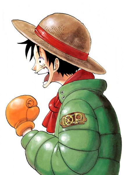Tags: Anime, Oda Eiichirou, ONE PIECE, Color Walk 3 - Lion, Monkey D. Luffy, Boxing Gloves, Official Art