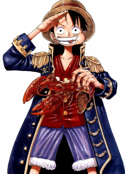 Tags: Anime, Oda Eiichirou, ONE PIECE, Color Walk 3 - Lion, Monkey D. Luffy, Lobster, Official Art