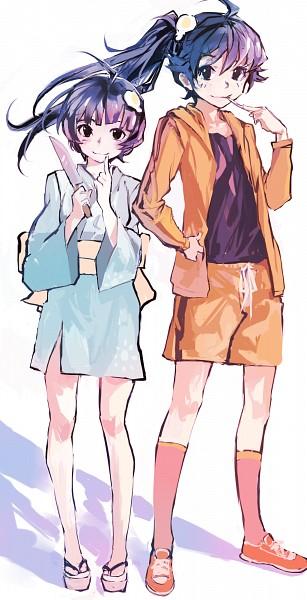 Tags: Anime, zRero, Monogatari, Araragi Karen, Araragi Tsukihi, Pixiv, Fanart