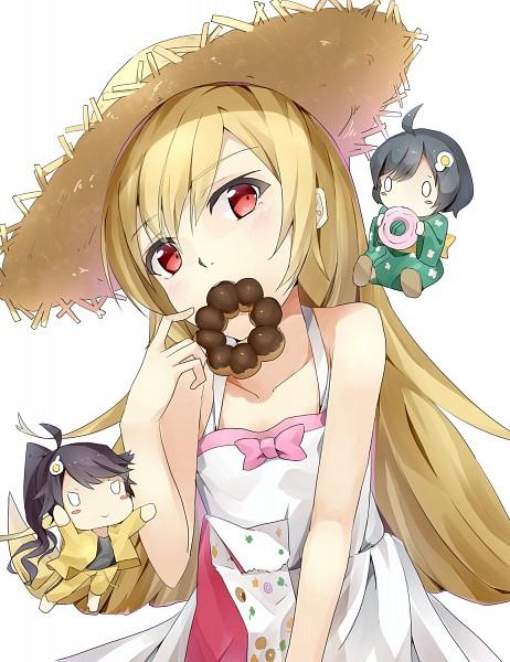 Tags: Anime, Snowflyer, Monogatari, Oshino Shinobu, Araragi Tsukihi, Araragi Karen
