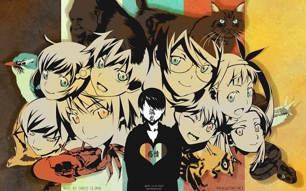 Tags: Anime, Monogatari, Oshino Shinobu, Sengoku Nadeko, Araragi Tsukihi, Araragi Karen, Hachikuji Mayoi, Kanbaru Suruga, Araragi Koyomi, Hanekawa Tsubasa, Gorilla, Bee, Crab