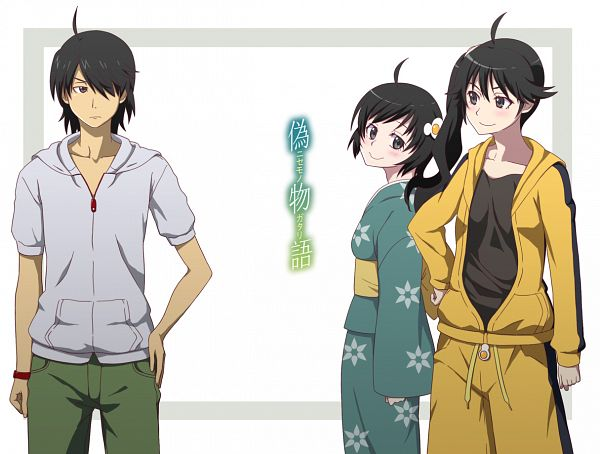 Tags: Anime, Pixiv Id 781371, Monogatari, Araragi Tsukihi, Araragi Karen, Araragi Koyomi