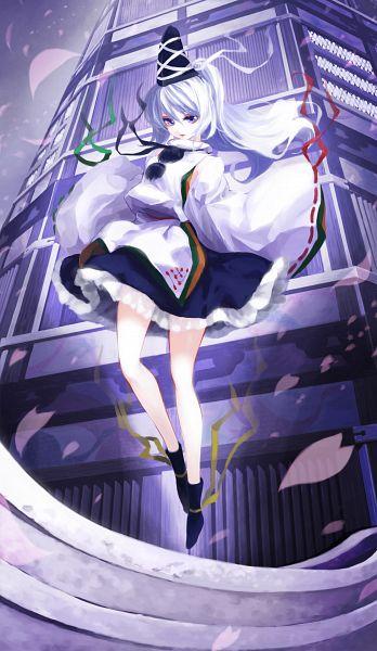 Tags: Anime, Iseki (Kuroshura No Tabiji), Touhou, Ten Desires, Mononobe no Futo, Exterior, Yumedono Daishibyou, Fanart From Pixiv, Pixiv, Revision, Mobile Wallpaper, Fanart