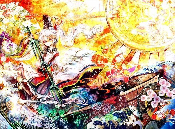 Tags: Anime, Mik-cis, Touhou, Mononobe no Futo, Bright Colors, PNG Conversion, Fanart, Revision, Pixiv, Fanart From Pixiv
