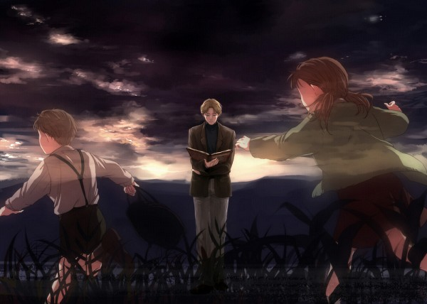 Tags: Anime, U-go2525, Monster (Series), Anna Liebert, Johann Liebert, Transparent Body, Memories, Chasing, Pixiv, Fanart, Naoki Urasawa's Monster
