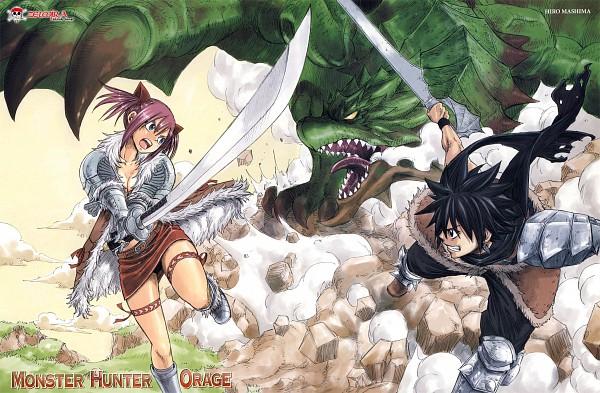 Tags: Anime, Mashima Hiro, Monster Hunter Orage, Monster Hunter Series, Rathian, Shiki Ryuuhou, Irie Jescar