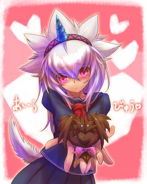 Tags: Anime, Tsukigami Chronica, Monster Hunter Series, Kirin (Monster Hunter), Dog Tail, Kirin (Armor)