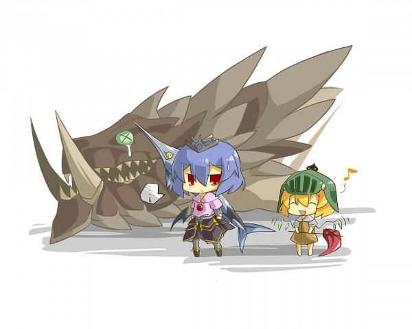 Tags: Anime, Haipa Okara, Capcom, Monster Hunter Frontier, Monster Hunter Series, Touhou, Flandre Scarlet, Akantor, Remilia Scarlet