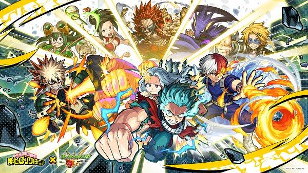 Tags: Anime, Boku no Hero Academia, Monster Strike, Kirishima Eijirou, Asui Tsuyu, Kaminari Denki, Bakugou Katsuki, Eri (Boku no Hero Academia), Uraraka Ochako, Midoriya Izuku, Yaoyorozu Momo, Todoroki Shouto, Tokoyami Fumikage