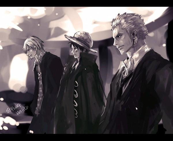 Tags: Anime, Tsuyomaru, ONE PIECE, Strong World, Roronoa Zoro, Sanji, Monkey D. Luffy, Monster Trio, Straw Hat Pirates