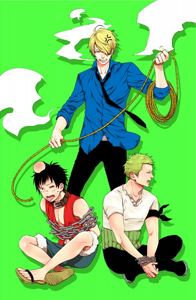 Tags: Anime, Pixiv Id 539848, ONE PIECE, Roronoa Zoro, Sanji, Monkey D. Luffy, Hands Tied, Bump, One Piece: Two Years Later, Fanart From Pixiv, Pixiv, Mobile Wallpaper, Fanart