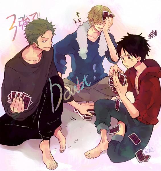 Tags: Anime, Hiyo Kiki, ONE PIECE, Monkey D. Luffy, Roronoa Zoro, Sanji, Facepalm, One Piece: Two Years Later, Fanart From Pixiv, Pixiv, Fanart, Monster Trio, Straw Hat Pirates