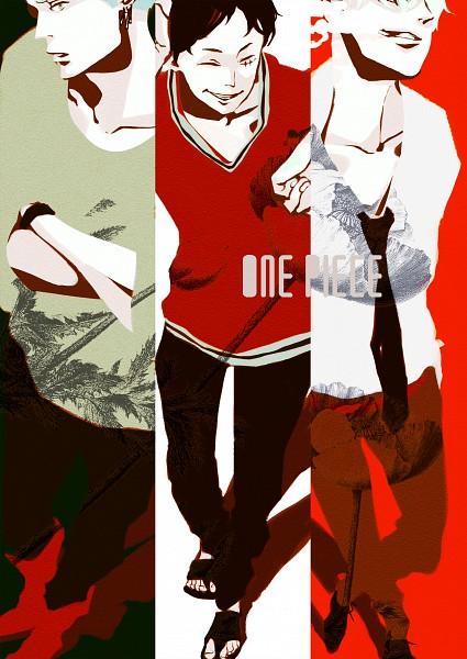 Tags: Anime, Pixiv Id 8718825, ONE PIECE, Sanji, Monkey D. Luffy, Roronoa Zoro, Mobile Wallpaper, Pixiv, Fanart, Fanart From Pixiv, Straw Hat Pirates, Monster Trio