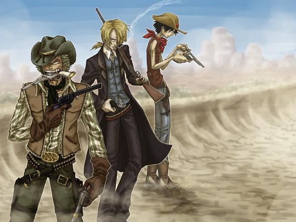 Tags: Anime, -syb, ONE PIECE, Monkey D. Luffy, Roronoa Zoro, Sanji, Wallpaper, Straw Hat Pirates, Monster Trio
