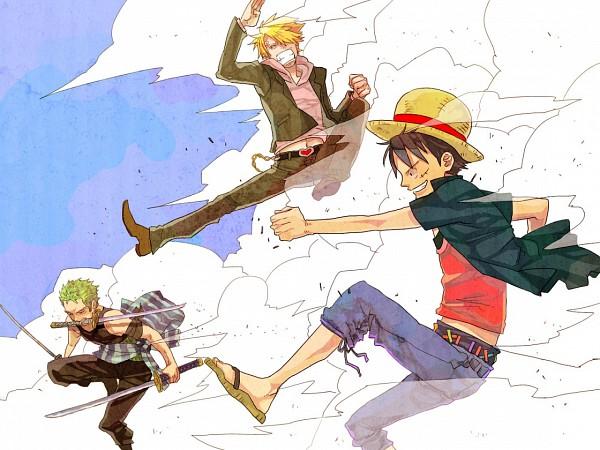 Tags: Anime, Pixiv Id 539848, ONE PIECE, Sanji, Monkey D. Luffy, Roronoa Zoro, Straw Hat Pirates, Monster Trio