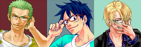 Tags: Anime, Pixiv Id 638133, ONE PIECE, Sanji, Monkey D. Luffy, Roronoa Zoro, Twitter Header, Monster Trio, Straw Hat Pirates