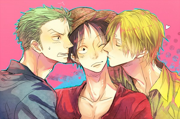 Tags: Anime, ONE PIECE, Monkey D. Luffy, Roronoa Zoro, Sanji, One Piece: Two Years Later, Pixiv, Monster Trio, The Eleven Supernovas, Straw Hat Pirates